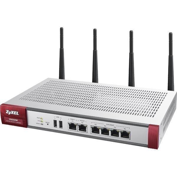 ZyXEL USG 60W Firewall Appl. 10/100/1000 4xLAN/DMZ 2xWAN 802.11a/b/g/n