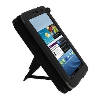 iGadgitz Guardian Triview Keinonahkakotelo Samsung Galaxy Tab 2 7.0 P3100 P3110 Musta