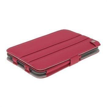 iGadgitz Guardian Triview Keinonahkakotelo Samsung Galaxy Tab 2 7.0 P3100 P3110 Punainen