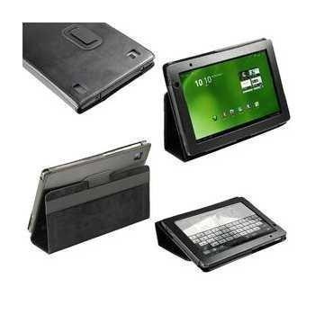 iGadgitz Portfolio Leather Case Acer Aspire Iconia Tab A500 A501 Black