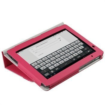 iGadgitz Portfolio PU Leather Case Acer Aspire Iconia Tab A500 A501 Pink