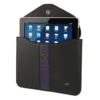 iPad 1 iPad 2 Maclove Leather Case Black
