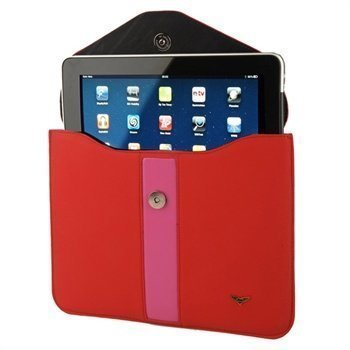 iPad 1 iPad 2 Maclove Leather Case Red