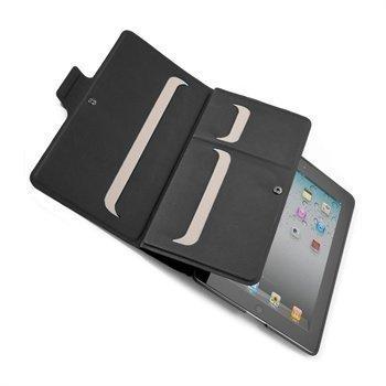iPad 2 Speck WanderFolio Vegan Nahkakotelo Musta / Manteli