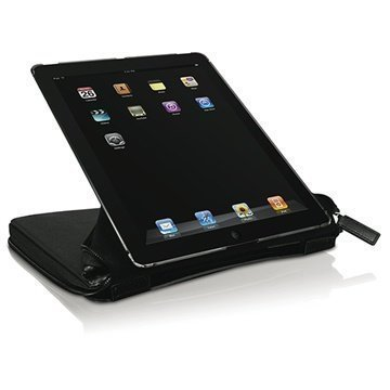 iPad 2 iPad 3 Macally BookStand PRO Nahkakotelo Musta