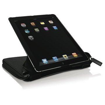 iPad 2 iPad 3 Macally BookStand PRO Nahkakotelo Musta