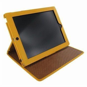 iPad 2 iPad 3 iPad 4 Piel Frama Cinema Nahkakotelo Keltainen