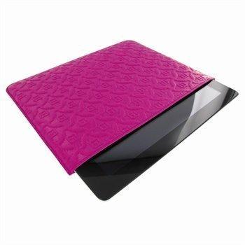 iPad 2 iPad 3 iPad 4 Piel Frama Pull Nahkakotelo Fuchsia Verenpunainen