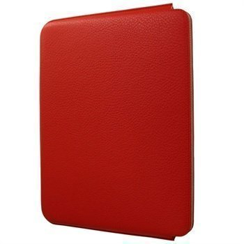 iPad 2 iPad 3 iPad 4 Piel Frama Unipur Nahkakotelo Punainen