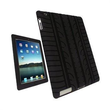 iPad 2 iPad 3 iPad 4 iGadgitz Rengaskuvioinen Silikonikotelo Musta