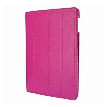 iPad 3 Piel Frama Nahkainen Smart-Kotelo Fuksianpunainen