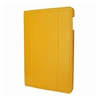 iPad 3 Piel Frama Nahkainen Smart-Kotelo Keltainen