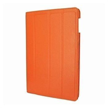 iPad 3 Piel Frama Nahkainen Smart-Kotelo Oranssi