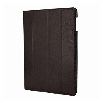 iPad 3 Piel Frama Nahkainen Smart-Kotelo Ruskea