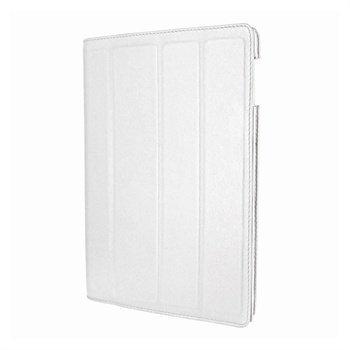 iPad 3 Piel Frama Nahkainen Smart-Kotelo Valkoinen