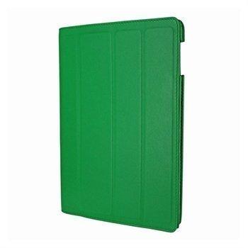 iPad 3 Piel Frama Nahkainen Smart-Kotelo Vihreä