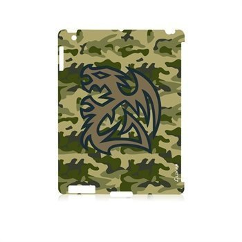 iPad 3 iPad 4 LUXA2 Battle Dragon Snap Napsautuskotelo Maasto