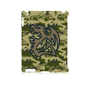 iPad 3 iPad 4 LUXA2 Battle Dragon Snap Napsautuskotelo Maasto
