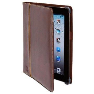 iPad 3 iPad 4 Maroo Saddle Brown Folio Nahkainen Suojakotelo Ruskea