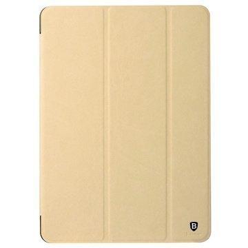iPad Air 2 Baseus Terse Series Tri-Fold Smart Nahkainen Suojakotelo Khaki