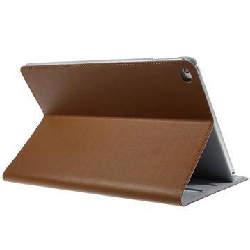 iPad Air 2 Doormoon Smart Folio Nahkakotelo Ruskea