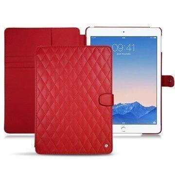 iPad Air 2 Noreve Tradition B Avattava Nahkakotelo Perpétuelle Couture Punainen