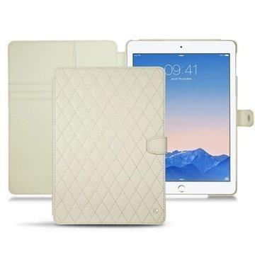 iPad Air 2 Noreve Tradition B Avattava Nahkakotelo Perpétuelle Couture Valkoinen