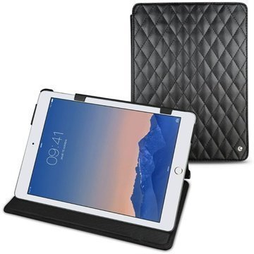 iPad Air 2 Noreve Tradition Leather Case Perpétuelle Couture Musta