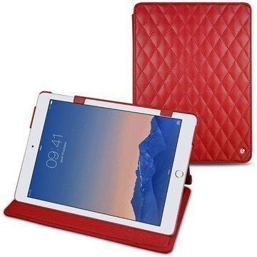 iPad Air 2 Noreve Tradition Leather Case Perpétuelle Couture Punainen