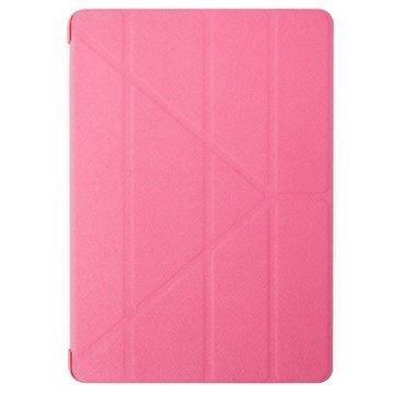 iPad Air 2 Ozaki O!Coat Slim-Y Versatile 360° Smart Vaaleanpunainen