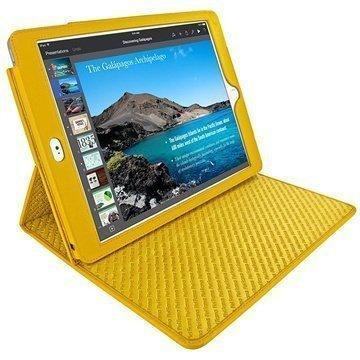 iPad Air 2 Piel Frama Cinema Nahkakotelo Keltainen