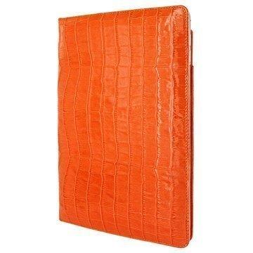 iPad Air 2 Piel Frama Cinema Nahkakotelo Krokotiili Oranssi