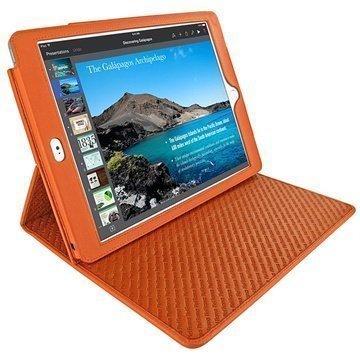 iPad Air 2 Piel Frama Cinema Nahkakotelo Oranssi