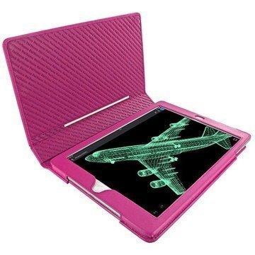 iPad Air 2 Piel Frama Folio Style Nahkakotelo Fuksia