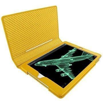 iPad Air 2 Piel Frama Folio Style Nahkakotelo Keltainen