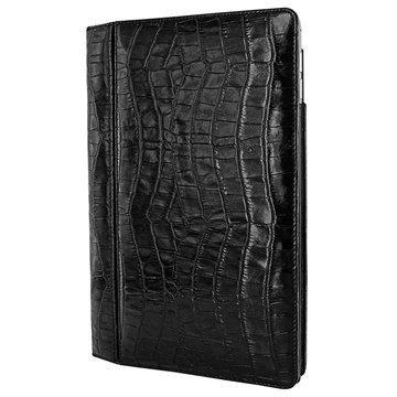 iPad Air 2 Piel Frama Folio Style Nahkakotelo Krokotiili Musta