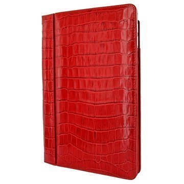 iPad Air 2 Piel Frama Folio Style Nahkakotelo Krokotiili Punainen