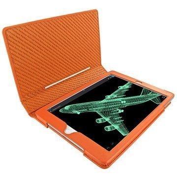 iPad Air 2 Piel Frama Folio Style Nahkakotelo Oranssi