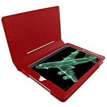 iPad Air 2 Piel Frama Folio Style Nahkakotelo Punainen