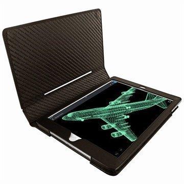 iPad Air 2 Piel Frama Folio Style Nahkakotelo Ruskea
