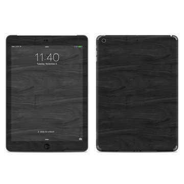 iPad Air Black Woodgrain Skin