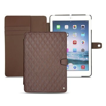 iPad Air Noreve Tradition B Flip Leather Case Chestnut
