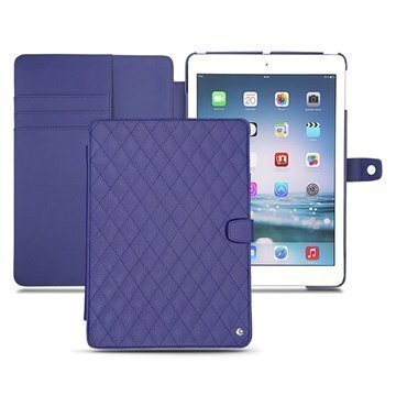 iPad Air Noreve Tradition B Flip Leather Case Cobalt