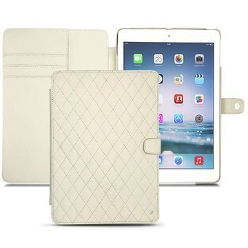 iPad Air Noreve Tradition B Flip Leather Case Ivoire