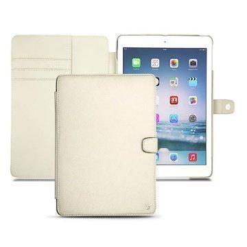 iPad Air Noreve Tradition B Läpällinen Nahkakotelo Norsunluun Värinen