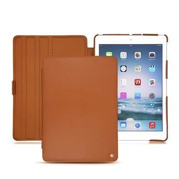 iPad Air Noreve Tradition Flip Leather Case Brown