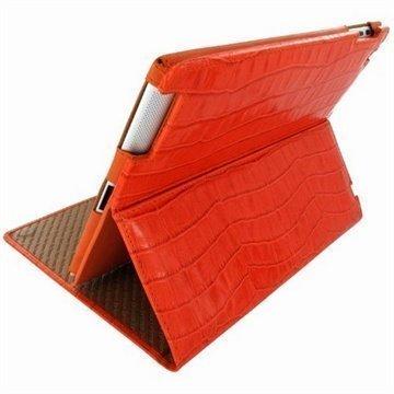 iPad Air Piel Frama Cinema Nahkakotelo Krokotiili Oranssi