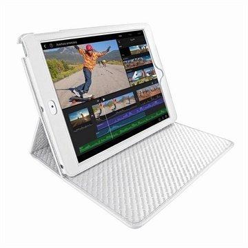 iPad Air Piel Frama Cinema Nahkakotelo Valkoinen