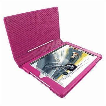 iPad Air Piel Frama Folio Style Nahkakotelo Fuksia