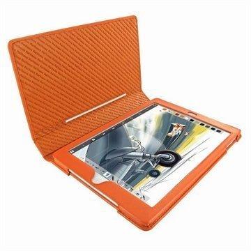 iPad Air Piel Frama Folio Style Nahkakotelo Oranssi